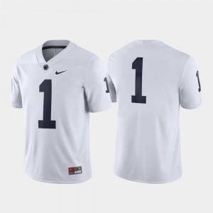 Penn State Jersey White For Men #1 Game
