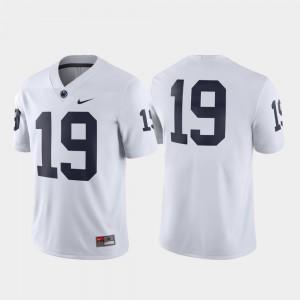 #19 Penn State Jersey White Football Men's Game