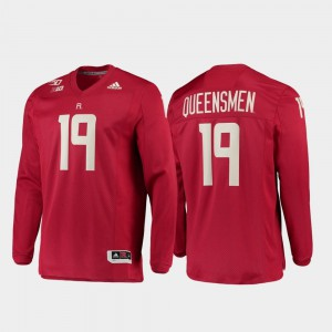 Strategy Long Sleeve College Football Men's 150th Anniversary #19 Rutgers Jersey Scarlet