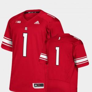 Rutgers Jersey College Football Mens #1 Premier Scarlet
