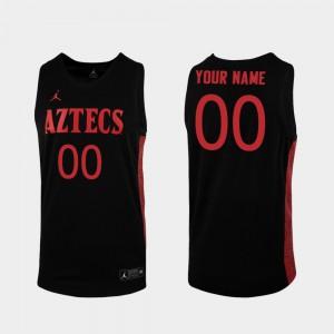 Replica #00 Black San Diego State Custom Jersey Men's College Basketball