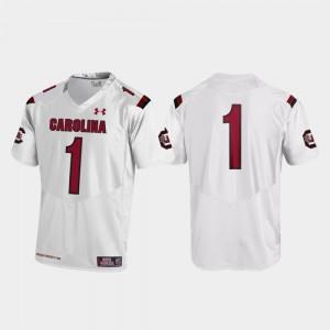 Replica College Football White Mens #1 South Carolina Jersey