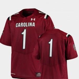 #1 Team Replica Men's College Football South Carolina Jersey Garnet