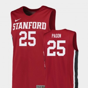 Red For Men Blake Pagon Stanford Jersey #25 Replica College Basketball