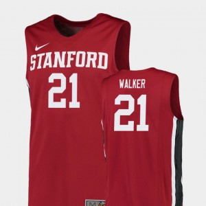 Replica Red College Basketball For Men Cameron Walker Stanford Jersey #21