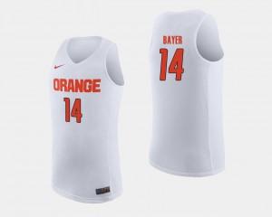 Braedon Bayer Syracuse Jersey White College Basketball #14 Men's