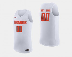 Syracuse Customized Jerseys College Basketball White #00 For Men