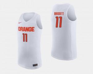 Oshae Brissett Syracuse Jersey White #11 College Basketball Mens