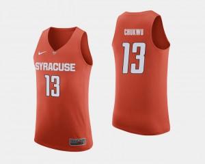 Mens #13 College Basketball Orange Paschal Chukwu Syracuse Jersey