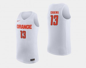Paschal Chukwu Syracuse Jersey #13 White Mens College Basketball