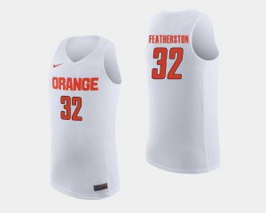 #32 Men's White Ray Featherston Syracuse Jersey College Basketball