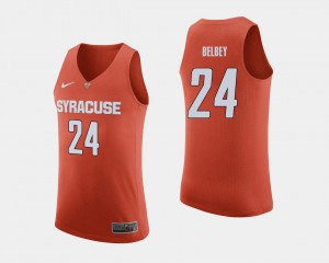 Men College Basketball Shaun Belbey Syracuse Jersey #24 Orange