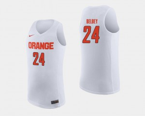 Mens Shaun Belbey Syracuse Jersey White College Basketball #24