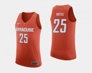 Men Tyus Battle Syracuse Jersey #25 College Basketball Orange