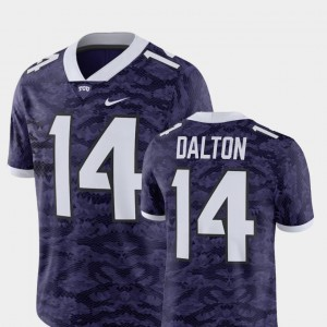 Alumni Football Game Player #14 For Men's Andy Dalton TCU Jersey Purple