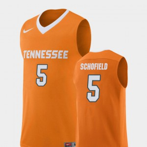 #5 Men College Basketball Replica Orange Admiral Schofield UT Jersey