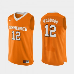 Authentic Performace Brad Woodson UT Jersey #12 College Basketball For Men Orange