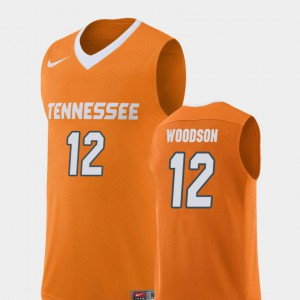 #12 Men Brad Woodson UT Jersey Replica College Basketball Orange