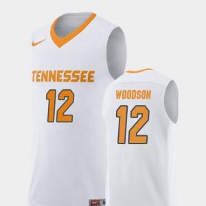 College Basketball #12 Replica For Men Brad Woodson UT Jersey White
