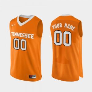 Men UT Custom Jerseys College Basketball Orange Authentic Performace #00
