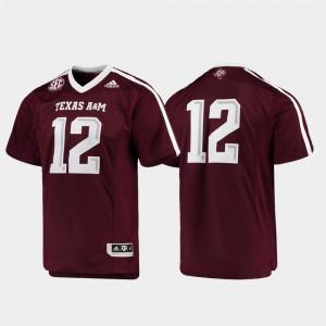 Texas A&M Jersey Premier Mens Maroon Football #12