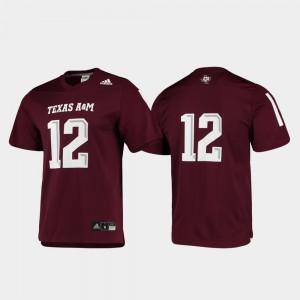 For Men Replica #12 Football Maroon Texas A&M Jersey