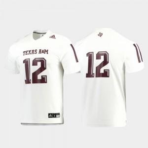 #12 White For Men's Texas A&M Jersey Football Replica
