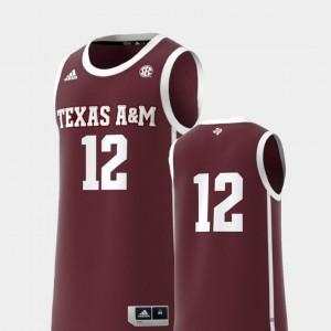 Basketball Swingman For Men Maroon College Replica #12 Texas A&M Jersey