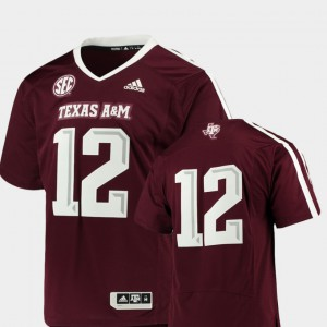#12 Texas A&M Jersey For Men Premier Maroon College Football