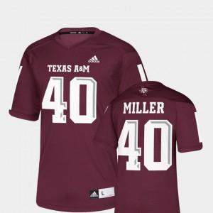 NFLPA Alumni Chase Replica Maroon Von Miller Texas A&M Jersey #40 Men