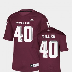 For Men Maroon NFLPA Alumni Chase Von Miller Texas A&M Jersey Replica #40