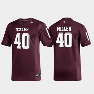Men Replica Alumni Football Maroon #40 Von Miller Texas A&M Jersey