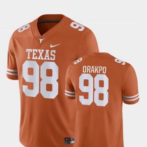 College Football Game Orange Brian Orakpo Texas Jersey #98 Men