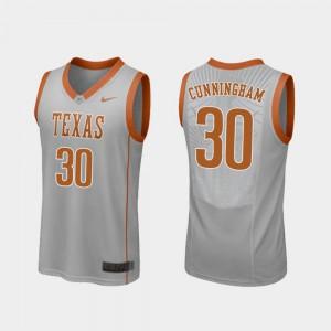 Replica College Basketball #30 Brock Cunningham Texas Jersey Mens Gray