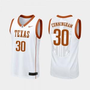 Replica White Brock Cunningham Texas Jersey College Basketball For Men's #30