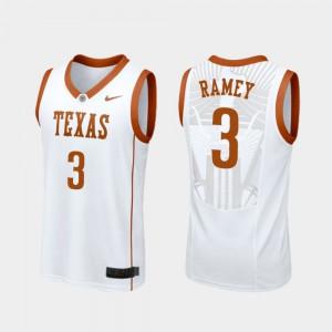 White #3 College Basketball Replica Courtney Ramey Texas Jersey Mens