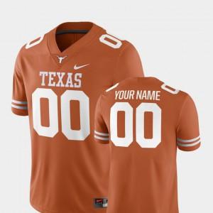 2018 Game Texas Orange Mens Texas Custom Jersey #00 College Football