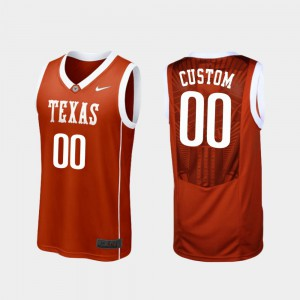 Replica Texas Custom Jerseys Burnt Orange Men's #00 College Basketball