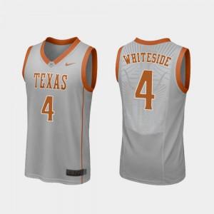 Gray Replica Drayton Whiteside Texas Jersey College Basketball Men #4