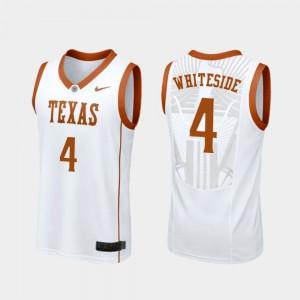#4 For Men White College Basketball Drayton Whiteside Texas Jersey Replica