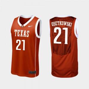 Dylan Osetkowski Texas Jersey Replica Burnt Orange College Basketball Men's #21