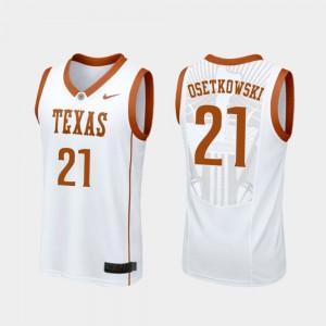 Dylan Osetkowski Texas Jersey Mens Replica #21 White College Basketball