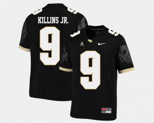 College Football Men's #9 Black Adrian Killins Jr. UCF Jersey American Athletic Conference