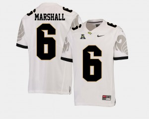 Brandon Marshall UCF Jersey For Men's #6 College Football White American Athletic Conference