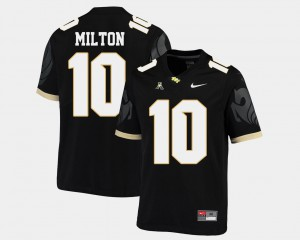 Men's American Athletic Conference Black Mckenzie Milton UCF Jersey #10 College Football