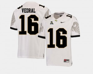 College Football Men's #16 American Athletic Conference White Noah Vedral UCF Jersey