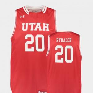 College Basketball Beau Rydalch Utah Jersey #20 Red For Men Replica