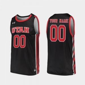 #00 Black Mens Replica 2019-20 College Basketball Utah Customized Jerseys