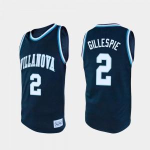Navy College Basketball #2 Collin Gillespie Villanova Jersey For Men Alumni