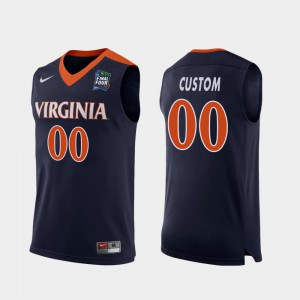 Replica Navy For Men 2019 Final-Four UVA Custom Jerseys #00